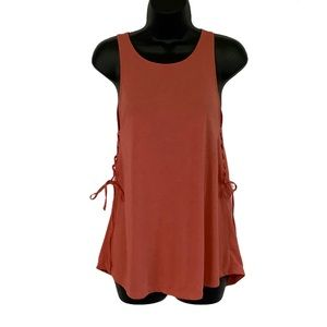 Mossimo Women Pink Side Laced Tank S